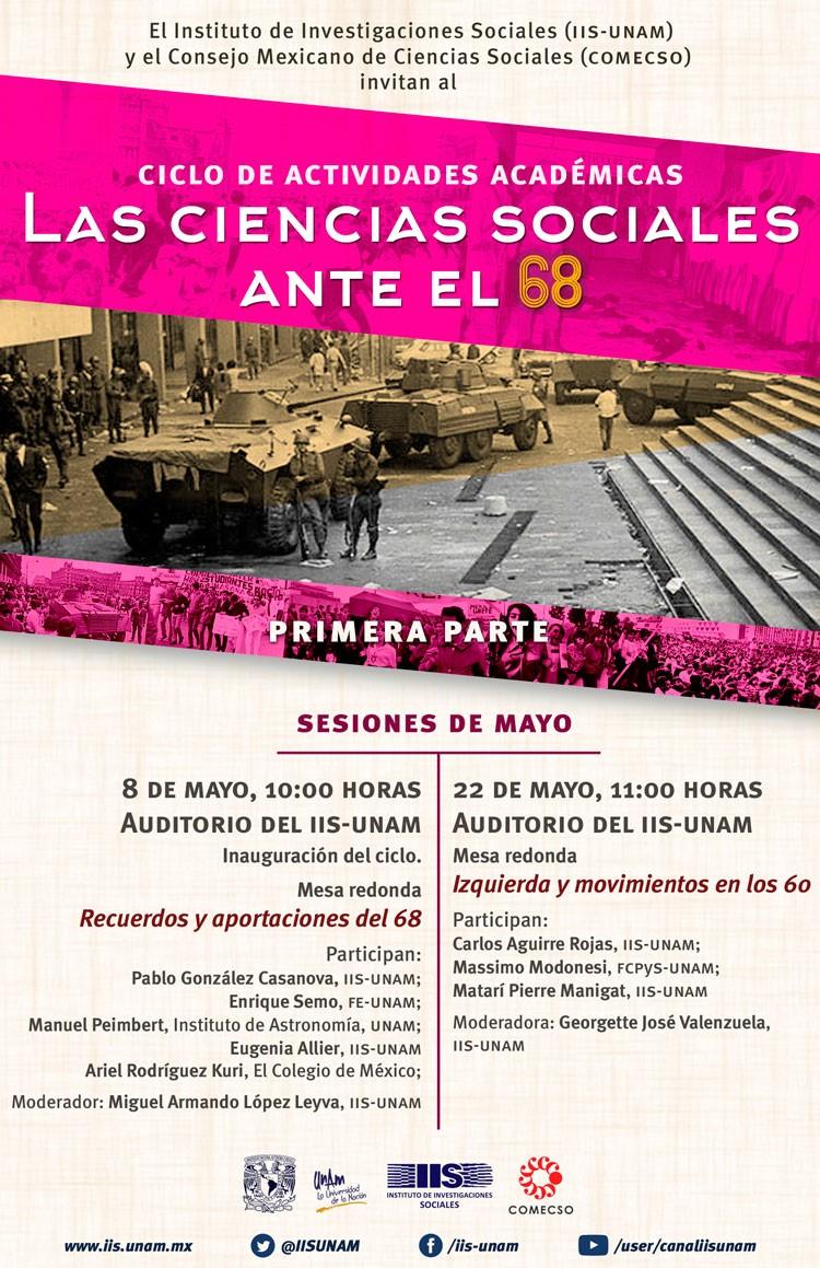 Las Ciencias Sociales ante el 68 mayo 2018